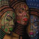 African women DMC cross stitch pattern in pdf DMC
