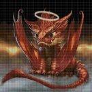 Agry baby dragon DMC cross stitch pattern in pdf DMC