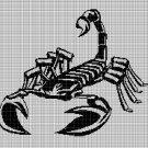 Scorpion Moon silhouette cross stitch pattern in pdf