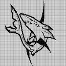 Shark 2 silhouette cross stitch pattern in pdf