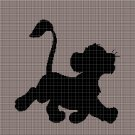 Simba silhouette cross stitch pattern in pdf