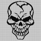 Skull silhouette cross stitch pattern in pdf