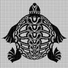 Tribal turtle 2 silhouette cross stitch pattern in pdf