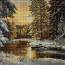 Forest in winter DMC cross stitch pattern in pdf DMC