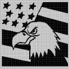 American symbol silhouette cross stitch pattern in pdf