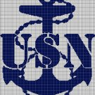 U.S.N symbol silhouette cross stitch pattern in pdf