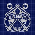 U.S.Navy silhouette cross stitch pattern in pdf