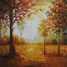 Autumn in the forest DMC cross stitch pattern in pdf DMC