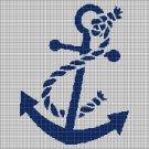 Anchor 2 silhouette cross stitch pattern in pdf