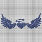 Angel symbols silhouette cross stitch pattern in pdf