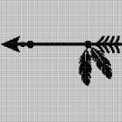 Arrow silhouette cross stitch pattern in pdf