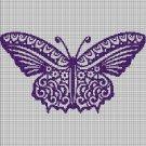 Art butterfly 2 silhouette cross stitch pattern in pdf