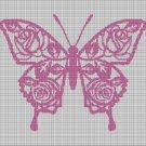 Art butterfly 3 silhouette cross stitch pattern in pdf