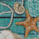 Sea motif DMC cross stitch pattern in pdf DMC