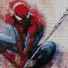 Spiderman DMC cross stitch pattern in pdf DMC