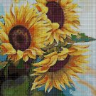 Sunflowers DMC cross stitch pattern in pdf DMC