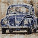 VW Beetle DMC cross stitch pattern in pdf DMC