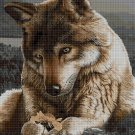 Wolf DMC cross stitch pattern in pdf DMC