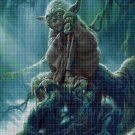Yoda DMC cross stitch pattern in pdf DMC