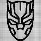 Black Panther mask silhouette cross stitch pattern in pdf