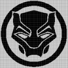 Black Panther symbol silhouette cross stitch pattern in pdf