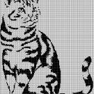 Cat silhouette cross stitch pattern in pdf