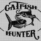 Catfish Hunter silhouette cross stitch pattern in pdf