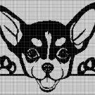 Chihuahua silhouette cross stitch pattern in pdf