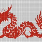 Chinese Dragon symbol silhouette cross stitch pattern in pdf
