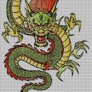 Chinese dragon DMC cross stitch pattern in pdf DMC