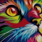 Colorful kitten DMC cross stitch pattern in pdf DMC