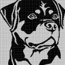 Dog head 2 silhouette cross stitch pattern in pdf