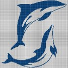 Dolphins silhouette cross stitch pattern in pdf