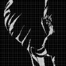 Elephant 2 silhouette cross stitch pattern in pdf