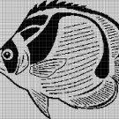 Fish silhouette cross stitch pattern in pdf