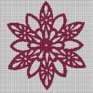 Flower symbol silhouette cross stitch pattern in pdf