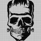 Frankenstein silhouette cross stitch pattern in pdf