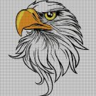 Eagle head DMC cross stitch pattern in pdf DMC