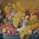 Fruit still life DMC cross stitch pattern in pdf DMC