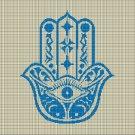 Hamza silhouette cross stitch pattern in pdf