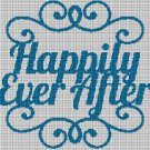 Happily Ever After silhouette cross stitch pattern in pdf
