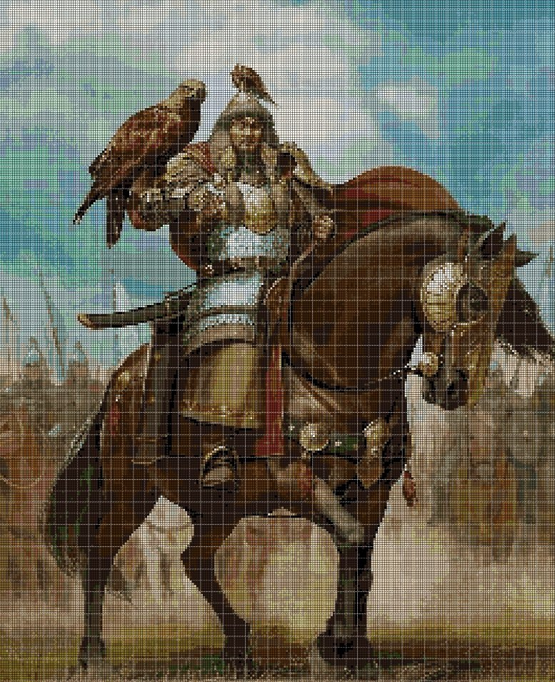 Genghis Khan DMC cross stitch pattern in pdf DMC