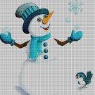 Snowman DMC cross stitch pattern in pdf DMC