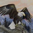 White-headed eagle DMC cross stitch pattern in pdf DMC