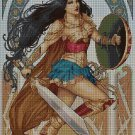 Wonder Woman DMC cross stitch pattern in pdf DMC