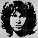 Jim Morrison silhouette cross stitch pattern in pdf