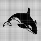 Orca silhouette cross stitch pattern in pdf