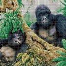 Gorillas DMC cross stitch pattern in pdf DMC