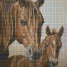 Horses 2 DMC cross stitch pattern in pdf DMC