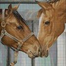 Horses 3 DMC cross stitch pattern in pdf DMC